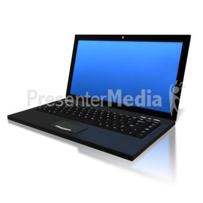 Blue Screen Laptop PowerPoint Clip Art