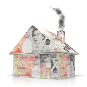 ID# 6295 - English Money House - Presentation Clipart