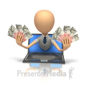 ID# 6297 - Internet Money English - Presentation Clipart