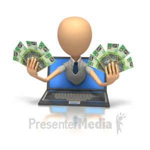 ID# 6299 - Internet Money Australian - Presentation Clipart