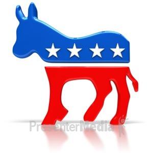 ID# 6305 - Democratic Donkey Symbol - Presentation Clipart