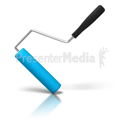 Paint Roller Angled PowerPoint Clip Art
