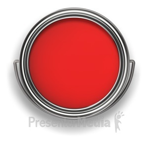 ID# 6328 - Look in the Paint Can - Presentation Clipart