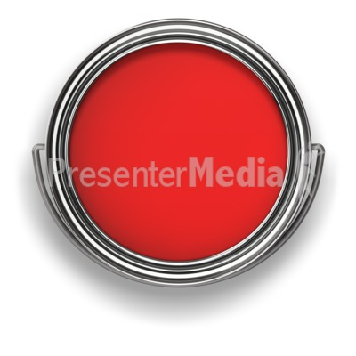 Look in the Paint Can PowerPoint Clip Art