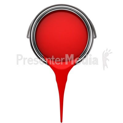 Can Pouring Paint PowerPoint Clip Art