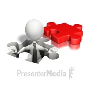 ID# 6354 - Puzzle Piece Hole Business - Presentation Clipart