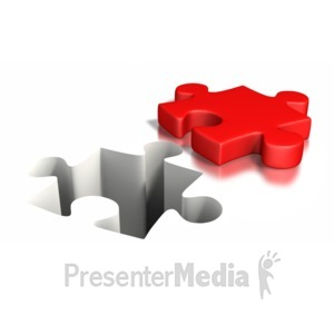 ID# 6362 - Puzzle Piece Impression - Presentation Clipart