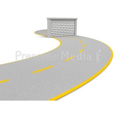 Road Block Wall PowerPoint Clip Art