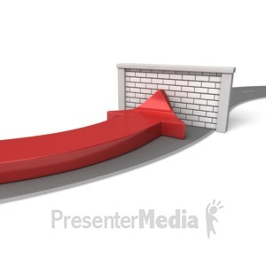 ID# 6376 - Road Block Arrow - Presentation Clipart