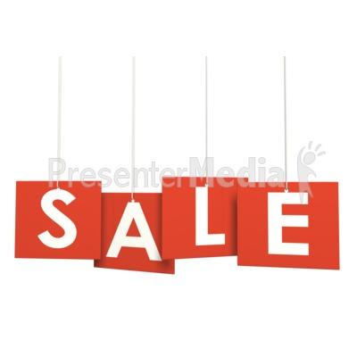 Multi Level Sign Sale PowerPoint Clip Art