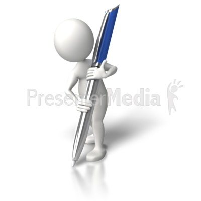 Write It Down Large PowerPoint Clip Art