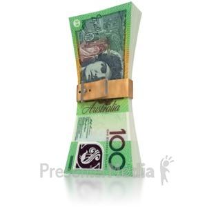ID# 6422 - Australain Money Squeeze - Presentation Clipart
