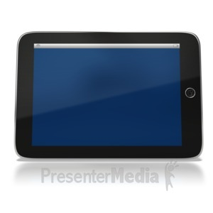 ID# 6423 - Tablet Computer - Presentation Clipart