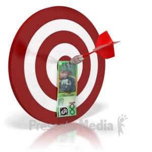 ID# 6427 - Australian Bullseye Money  - Presentation Clipart