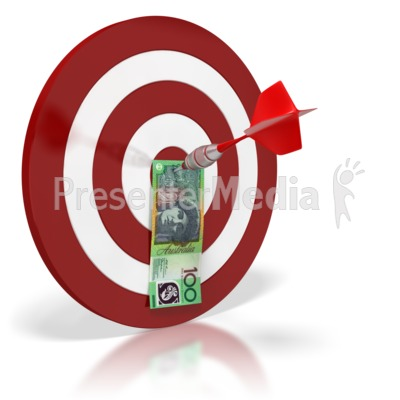 Australian Bullseye Money  PowerPoint Clip Art