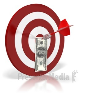 ID# 6428 - Bullseye Money Dollar - Presentation Clipart