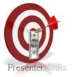 ID# 6428 - Bullseye Money Dollar - Presentation Clipart