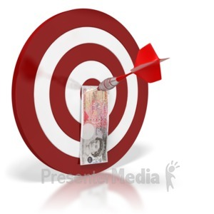 ID# 6430 - British Pound Bullseye Money - Presentation Clipart