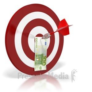 ID# 6431 - Euro Bullseye Money - Presentation Clipart