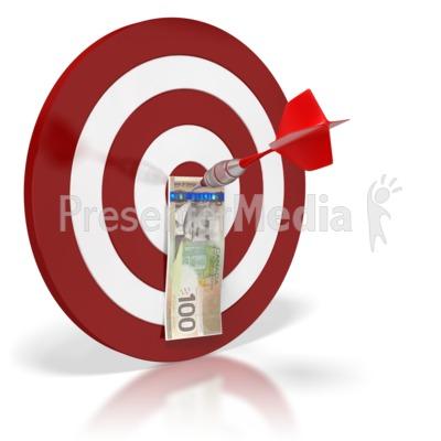 Canadian Bullseye Money PowerPoint Clip Art