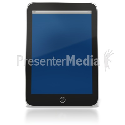 Tablet Computer Upright PowerPoint Clip Art