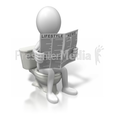 On The Toilet Reading Signs And Symbols Great Clipart For Presentations