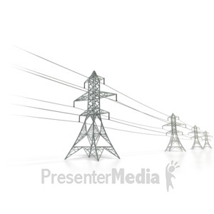 ID# 6460 - Power Transmission Lines - Presentation Clipart
