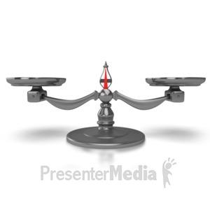 ID# 6463 - Scale Balanced - Presentation Clipart
