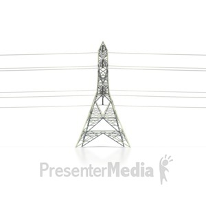 ID# 6470 - Power Transmission Tower Side - Presentation Clipart