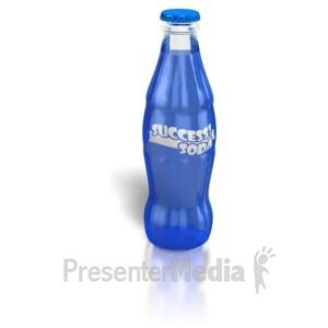 ID# 6483 - Success Soda - Presentation Clipart