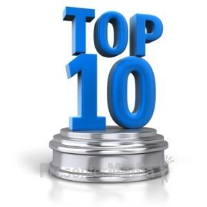 ID# 6486 - Top 10 Pedestal - Presentation Clipart