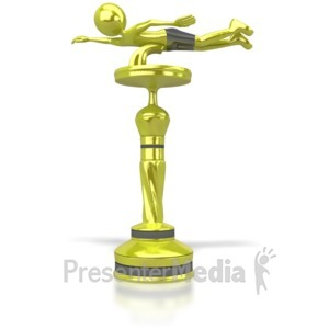 ID# 6487 - Swimming Trophy - Presentation Clipart