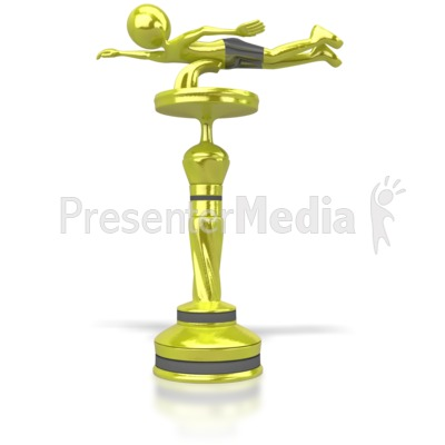 Swimming Trophy PowerPoint Clip Art