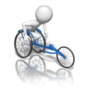ID# 6503 - Wheelchair Racer - Presentation Clipart