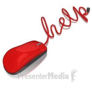 ID# 6513 - Computer Mouse Help - Presentation Clipart
