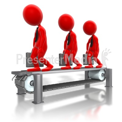 Business Assembly Line Stick Figures Col PowerPoint Clip Art