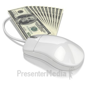 ID# 6521 - Computer Mouse Money - Presentation Clipart