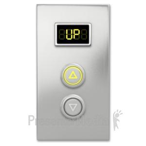 ID# 6523 - Elevator Button Up - Presentation Clipart