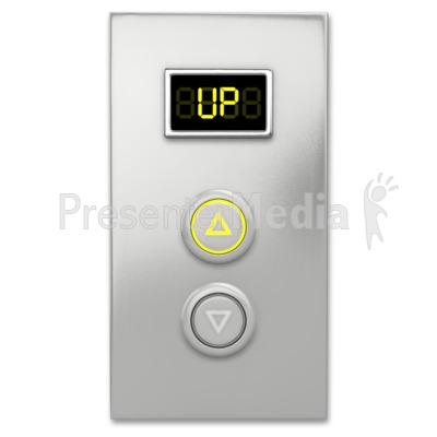 Elevator Button Up PowerPoint Clip Art