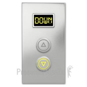 ID# 6524 - Elevator Button Down - Presentation Clipart