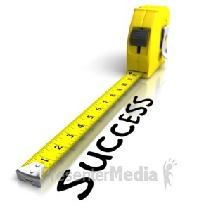 ID# 6539 - Tape Measuring Success - Presentation Clipart