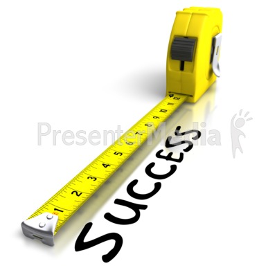 Tape Measuring Success PowerPoint Clip Art