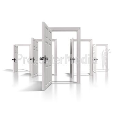 Doors Of Opportunity PowerPoint Clip Art