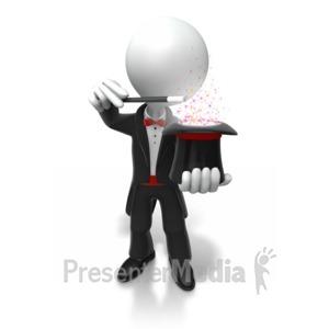 ID# 6600 - Magician Performing Trick - Presentation Clipart