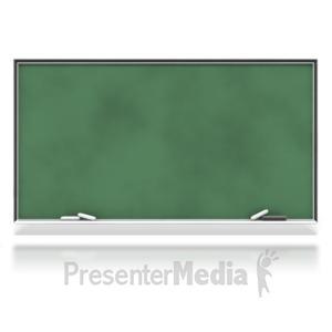 ID# 6614 - Blank Chalkboard - Presentation Clipart