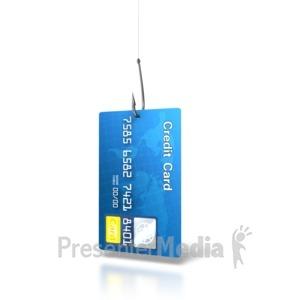 ID# 6628 - Credit Card Bait - Presentation Clipart