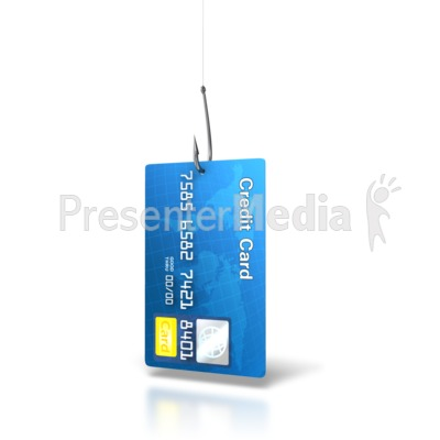 Credit Card Bait PowerPoint Clip Art