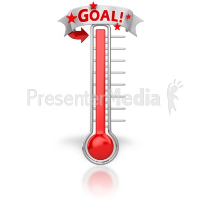 Thermometer Reached Our Goal - Signs and Symbols - Great Clipart ...