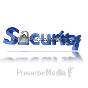 ID# 6667 - Security Text Chain Locked - Presentation Clipart