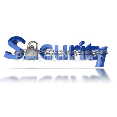 Security Text Chain Locked PowerPoint Clip Art